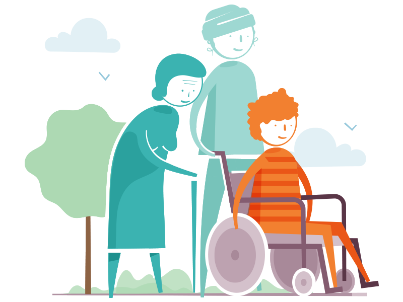 groupe mixte handicap parc